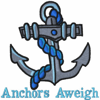 Anchors Aweigh Embroidered T shirts Polo