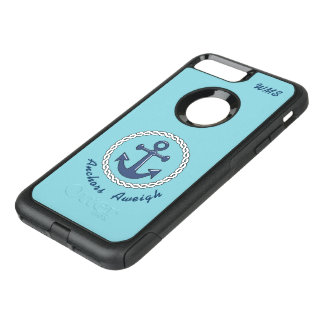 Anchors Aweigh Monogrammed OtterBox Commuter iPhone 8 Plus/7 Plus Case