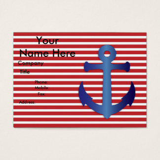 ANCHORS AWEIGH! (red) ~ Business Card