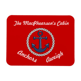 Anchors Aweigh Stateroom Door Marker Rectangle Magnets