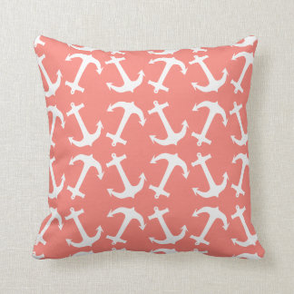 anchors galore coral pink cushion