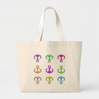 anchors of colors large tote bag