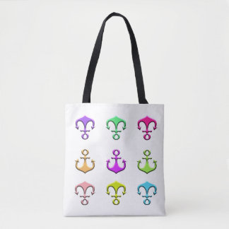 anchors of colors tote bag
