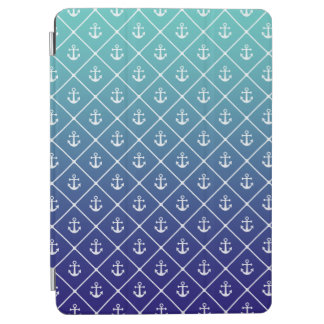 Anchors on gradient teal to blue background iPad air cover