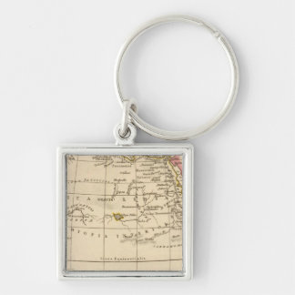 Ancient Africa Silver-Colored Square Key Ring