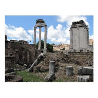 Ancient Agora temple pillar ruins Postcard