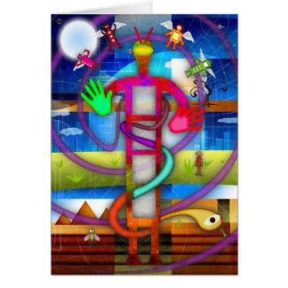 Ancient Alien Astronaut Angel Card