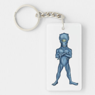 ancient alien Single-Sided rectangular acrylic key ring