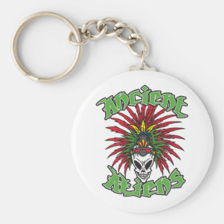 Ancient Aliens Skull Basic Round Button Key Ring