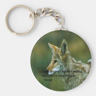 Ancient American Indian proverb Basic Round Button Key Ring