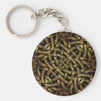 Ancient Arabesque Stone Ornament Keychain