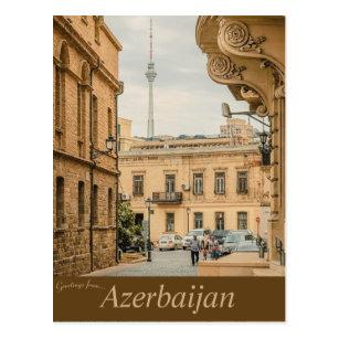 Ancient Architecture in Baku Azerbaijan Postcard