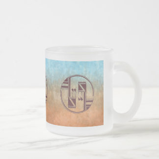Ancient Arts Native American Frosted Glass Coffee Mug