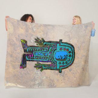 Ancient Astronaut Fleece Blanket