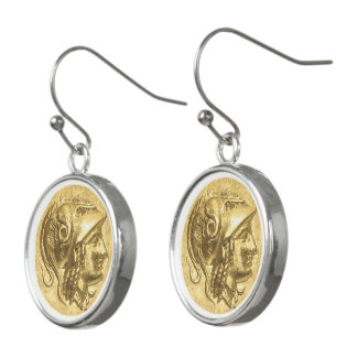 Ancient Athena Coin Earrings