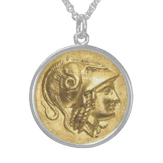 Ancient Athena Coin Sterling Silver Necklace
