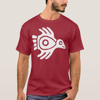 Ancient Aztec Bird Symbol T-Shirt White