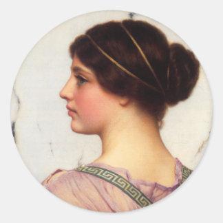 Ancient beauty Round Sticker,3 inch (sheet of 6) Classic Round Sticker