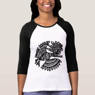 Ancient Bird Motif Raglan T-Shirt