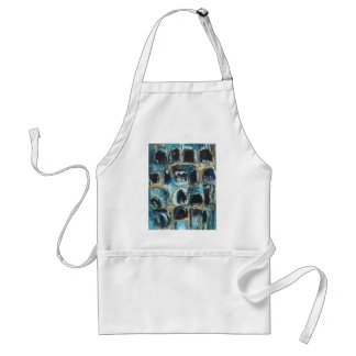 Ancient Blue Caves(abstract expressionism) Apron