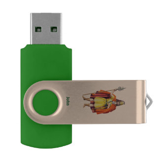 ~ Ancient Briton COSTUME ~Personalised for JOHN ~ USB Flash Drive