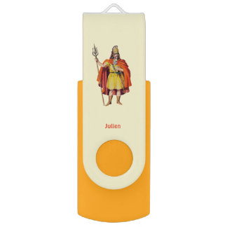 Ancient Briton COSTUME ~Personalised for JULIEN ~ USB Flash Drive