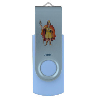 ~ Ancient Briton COSTUME ~Personalised for JUSTIN~ USB Flash Drive