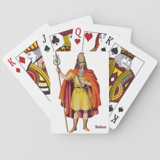 Ancient Briton COSTUME~Personalised NATHAN~ Playing Cards