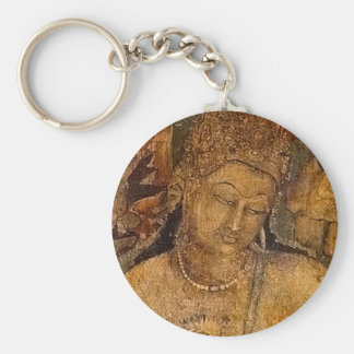 Ancient Buddhist Painting Key Chains