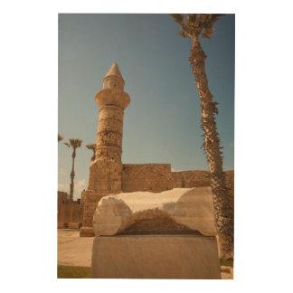 Ancient Caesarea Ruins Wood Wall Art