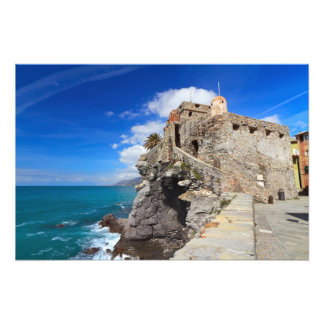 ancient castle in Camogli Photo Print