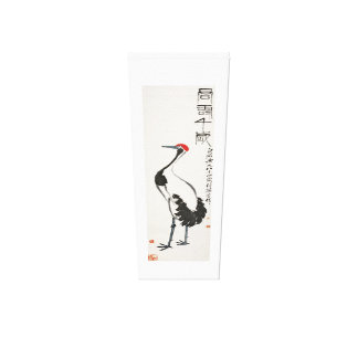 Ancient China Painting by Qi Baishi - Crane Canvas Print