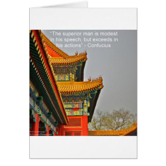Ancient Chinese Architecture Confucius Quote Gift Card
