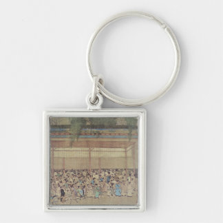 Ancient Chinese Waiting for Examination Keychain