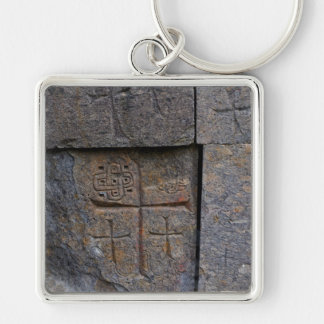 Ancient Christians Silver-Colored Square Key Ring