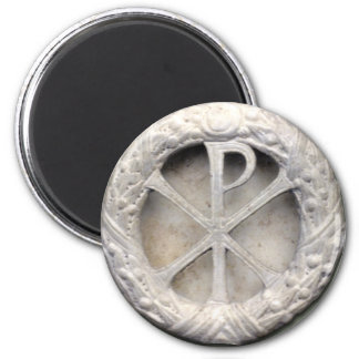 Ancient Christogram 6 Cm Round Magnet