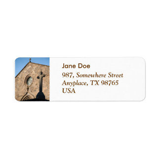 Ancient church return address label