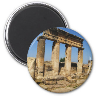 Ancient City Of Hierapolis -  a pagan cult center 6 Cm Round Magnet