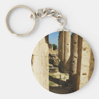 Ancient city of Hierapolis in Turkey Basic Round Button Key Ring