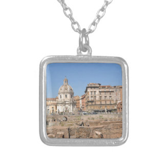 Ancient city of Rome, Italy Silver Plated Necklace