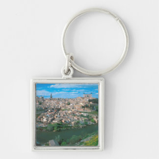 Ancient city of Toledo, Spain. Silver-Colored Square Key Ring