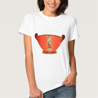 Ancient civilisation, designs from pottery shirt