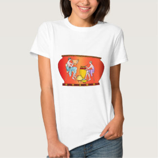 Ancient civilisation, designs from pottery tshirts