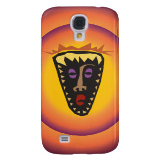 Ancient Civilization Tribal Mask Glowing Sun Galaxy S4 Covers