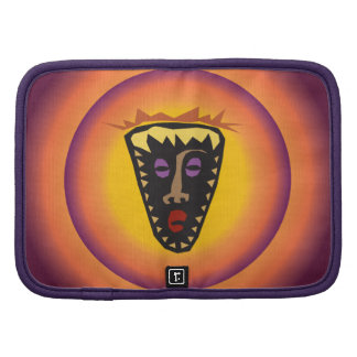 Ancient Civilization Tribal Mask Glowing Sun Planner
