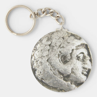 Ancient Coin Basic Round Button Key Ring