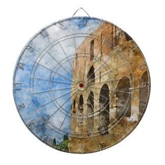 Ancient Colosseum in Rome Italy Dartboard