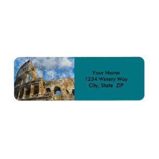 Ancient Colosseum in Rome Italy Return Address Label