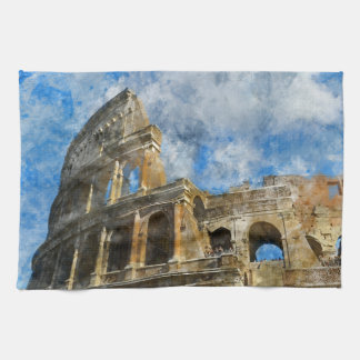 Ancient Colosseum in Rome Italy Tea Towel