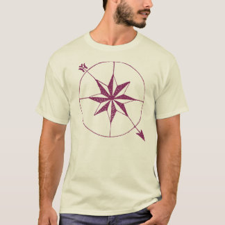 Ancient Compass Antique Map Collector Symbol T-Shirt